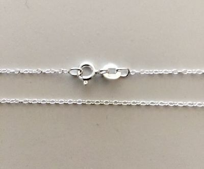 "Real Sterling Silver Cable Necklace Chain 50cm 20"" 1.10mm Genuine Fine 925 NEW"