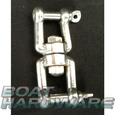Jaw Jaw Swivel 6mm 316 Stainless Steel for Anchors Zip lines BRAND NEW