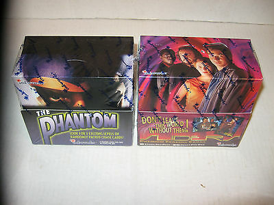 SLIDERS TV SHOW +THE PHANTOM WAX BOX 36 PACKS TRADING CARDS W/FULL SET + INSERTS