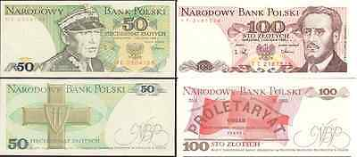 50 And 100 Zlotych - Banknotes From Poland  - Mint Unc Condition - Polish Zloty