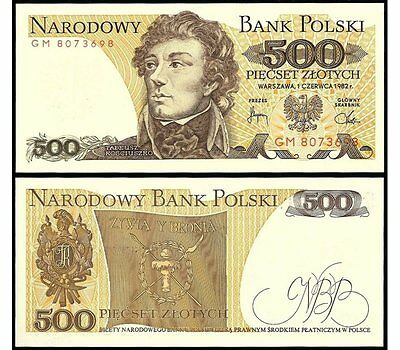 200 And 500 Zlotych - Banknotes From Poland  - Mint Unc Condition - Polish Zloty