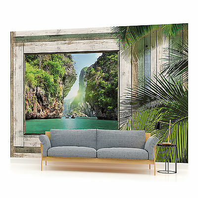 Tropical fish murals aquarium wallpaper mural for Cn mural designs