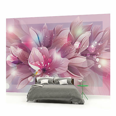 WALL MURAL PHOTO WALLPAPER (762VEVE) Flowers Floral Art Abstract