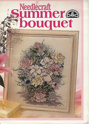 Vintage Needlecraft Summer Bouquet DMC Creative World Giant Embroidery Chart