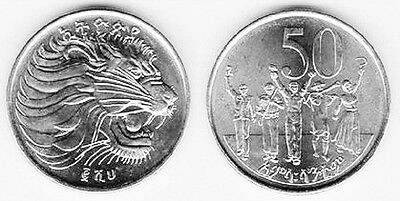 Ethiopia 1969 (1977) 50 Cents Uncirculated (KM47.1)