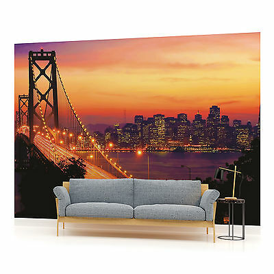 WALL MURAL PHOTO WALLPAPER (418VEVE) Golden Gate Bridge City Urban