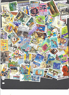 100 Australian Stamps Collection All Different Used 1913-2013