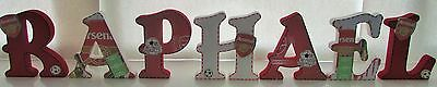 15cm Hand Painted Wooden Free Standing Letters - Any theme