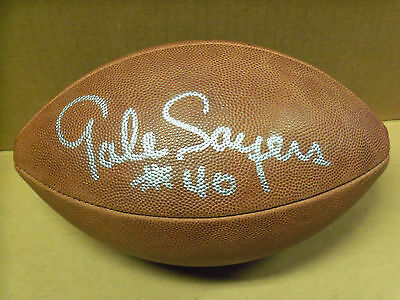 Chicago Bears, Gale Sayers, Signed Wilson NFL Football, Tagliabue, Solid