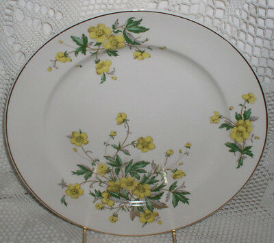Knowles Buttercup Dinner Plate Yellow Flower Flowers Gold Trim Buttercups