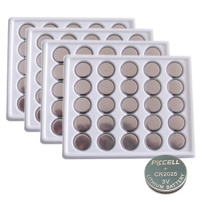 100 New CR2025 ECR2025 DL2025 3V Lithium Button Coin Cell Battery Wholesale Lot