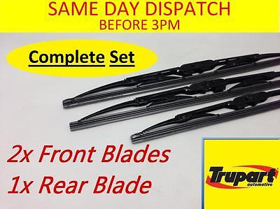 Hyundai Getz 02-09 Front & Rear Windscreen Wiper Blades X3 Complete Set