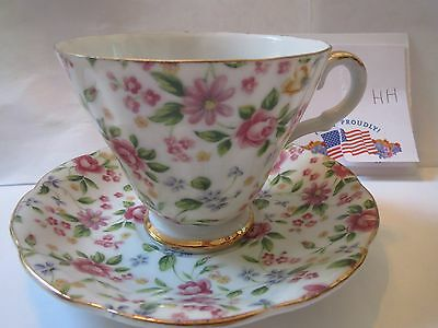 LEFTON - HANDPAINTED - TEACUP AND SAUCER            HH