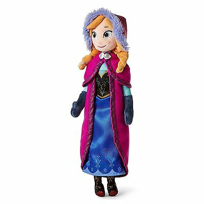 "Disney Store Frozen Anna Plush 16/"" inches Soft Doll BRAND NEW"