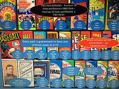 Vintage Hot Wax Pack Chase Guaranteed Hit 1978 1979-1985 Topps Donruss Fleer