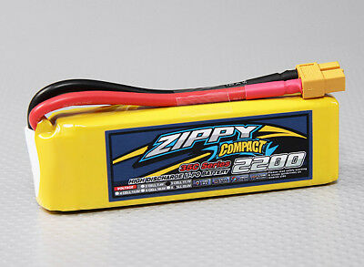 RC ZIPPY Compact 2200mAh 3S 35C Lipo Pack