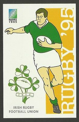 SOUTH AFRICA 1995 RUGBY WORLD CUP IRELAND Pre Stamped POSTCARD