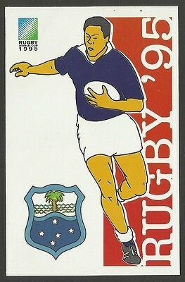 SOUTH AFRICA 1995 RUGBY WORLD CUP WESTERN SAMOA Pre Stamped POSTCARD