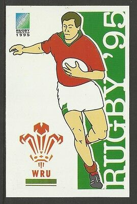 SOUTH AFRICA 1995 RUGBY WORLD CUP WALES Pre Stamped POSTCARD
