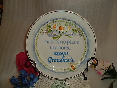 Chesapeake Bay,LTD Collector Plate -There's no place like home, except Grandma's