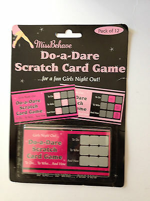 12 x Do A Dare Scratch Cards Game Ladies Hen Party / Girls Night Out Fun