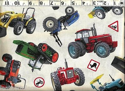 TRACTORS IH Case Ford New Holland Allis Chalmers ~ 100% Cotton Quilt Fabric BTY
