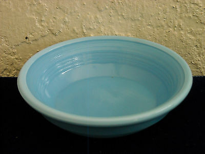 Akro Agate Large Concentric Ring Cereal Bowl  Opaque Blue