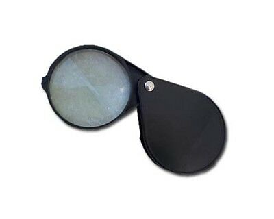 Folding Magnifier, 5x- Plastic Case, Small Magnifying, 2 Inch Glass Lens