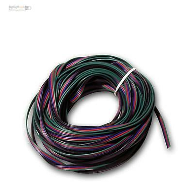 20m Braid 4-wire 0,14 mm² Copper braid red green blue - ideal Kael for RGB LED