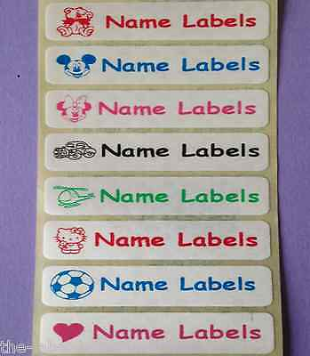 25 Sew in / Iron on Satin Personalised Clothes Name Labels Tapes Tags 46x12mm