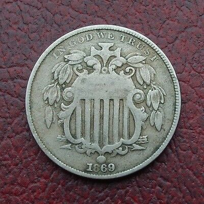 USA 1869 nickel 5 cents