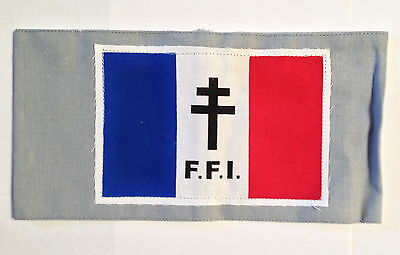FREE FRENCH ARMY FFI  FRENCH RESISTANCE Armband TYPE b SCREEN PRINTED