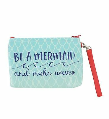 Be A Mermaid And Make Waves Make Up Cosmetics Toiletries Bag Coin Purse
