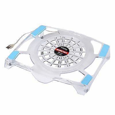 """Frisby Quiet Cooling Pad USB Blue LED Light Fan Laptop Notebook Cooler 10 to 15"""""""