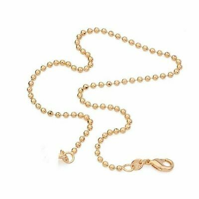 """9K 9ct Yellow """"Gold FILLED"""" Beads ANKLE CHAIN Bell ANKLET . 10.5"""" Gift"""
