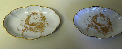 """""""2"""" SCALLOPED  GOLD TRIM CANDY TRINKET DISH - EXCLUSIVITE CHAMART LIMOGES FRANCE"""