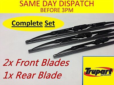 Ford Focus Hatchback Mk1 98-05 Front Rear Windscreen Wiper Blade X3 Complete Set