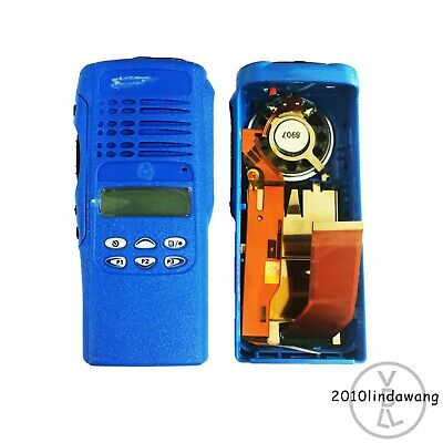 Blue Replacement Housing Case for Motorola HT1250 Limited-keypad Portable Radio