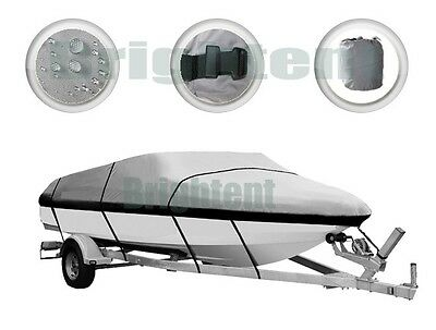 240D Heavy Duty Trailable Boat Cover 14ft to 16ft V-Hull 90 inch Beam GBT1N