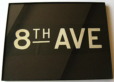 Vintage New York Subway IND R-1/9 Roll Sign Section In Plastic Frame 8th Ave