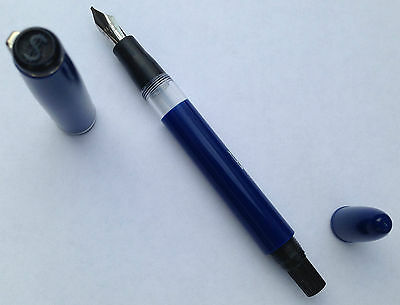 Dollar 717 Calligraphy Qalam Italic Fountain Pen    -  Blue Barrel  -    Dollar