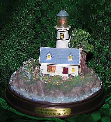 Thomas Kinkade Quot A Light In The Storm Quot Lighthouse Figurine