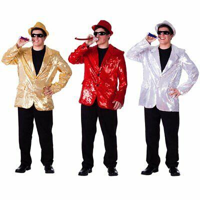 Dress Up America Adult Sequin Jacket - Silver, Gold or Red