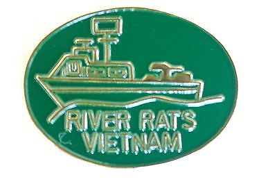 US USA USN Navy River Rats Vietnam Military Hat Lapel Pin