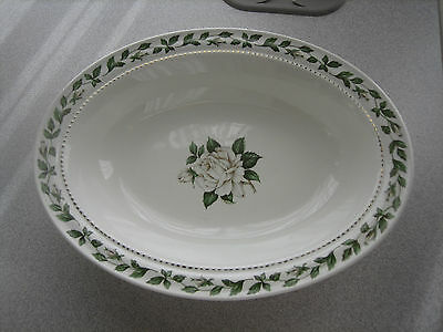 """Superior Hall Quality Dinnerware Cameo Rose Oval Vegtable Serving Bowl 10.5"""""""
