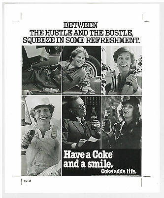 3 pc Rare Coca Cola  Advertising Proof Have Coke and A Smile Ads Life Ad 1979 hk