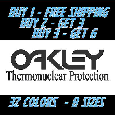 OAKLEY THERMONUCLEAR PROTECTION VINYL DECAL STICKER -WALL OR WINDOW - OLD SCHOOL