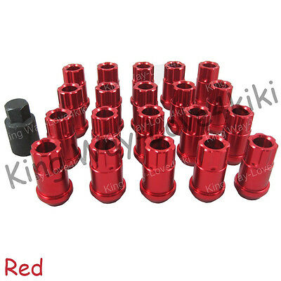 Red 12X1.5Mm Aluminum Racing Locking Lug Nuts For Honda Acura Toyota 20Pcs/set