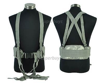 ACU Camouflage MOLLE Duty Tactical Army Military Security Padded Belt /Suspender