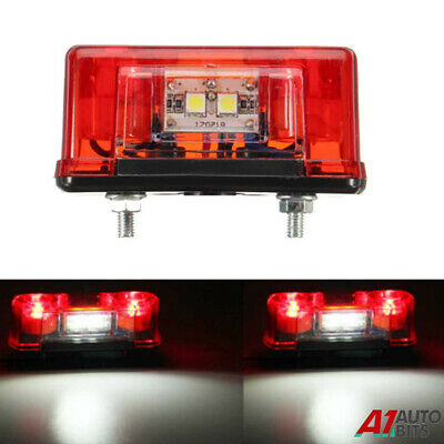 1x  4 LED Rear Tail License Number Plate Light Lamp 12V Car Truck Trailer